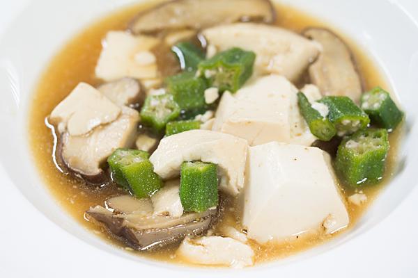 豆腐とオクラ