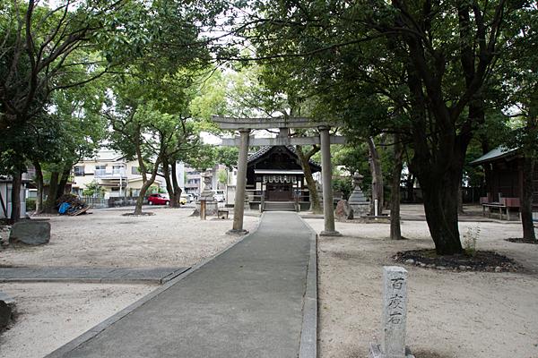 矢田白山社境内風景