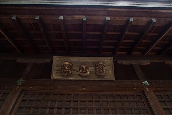 矢田白山社神楽殿の面