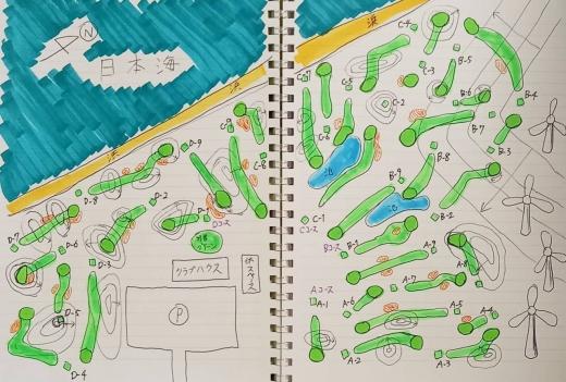 日本海リンクスパークゴルフコース(架空PG場) (図)