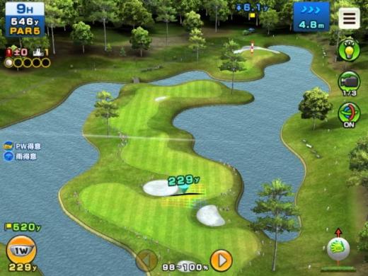 クラップハンズゴルフをプレー第5回-6面のコース(9番)