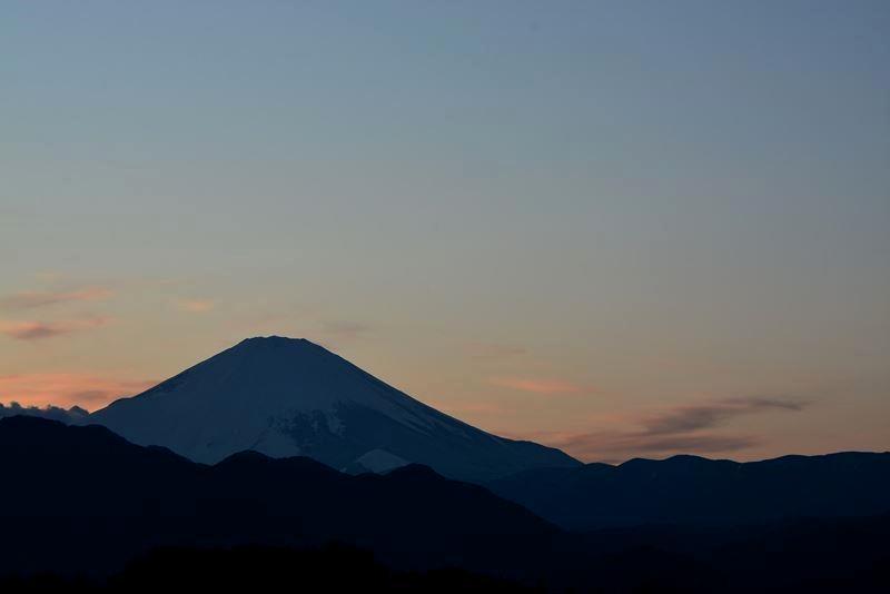 夕景の富士f (7)
