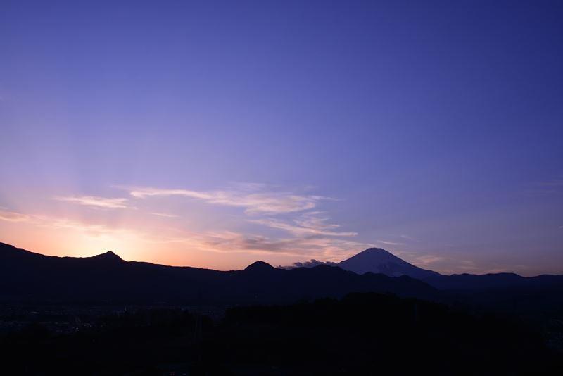夕景の富士f (5)