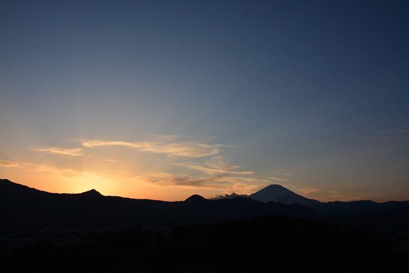 夕景の富士f (3)