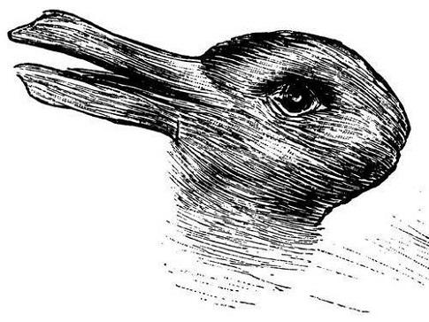 ウサギとアヒルのだまし絵