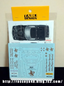 124 TABU DESIGN JPSデカール