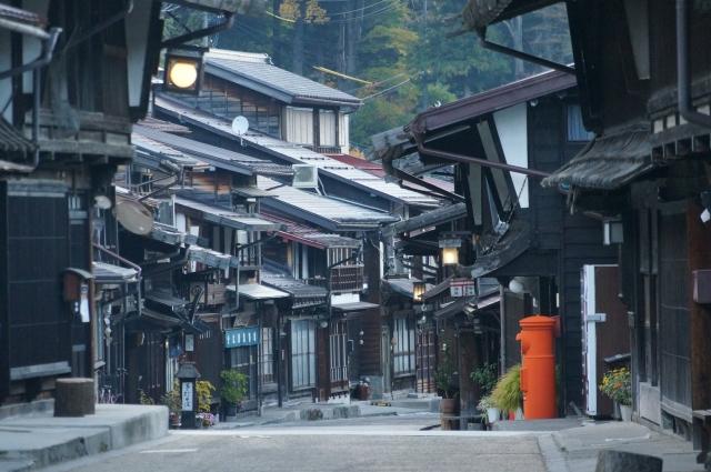 奈良井宿の風情漂う一画