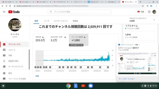 You Tubeの動画総数の内訳