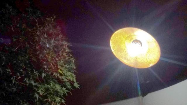 センサを交換した笠松電気の街灯。センサ感度も調整完了