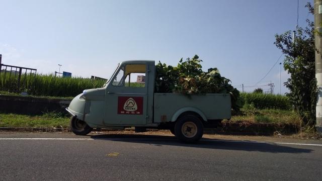 ミゼットで農作業、枝豆収穫