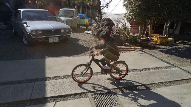 ブリジストン レベナ 子供用自転車が走る