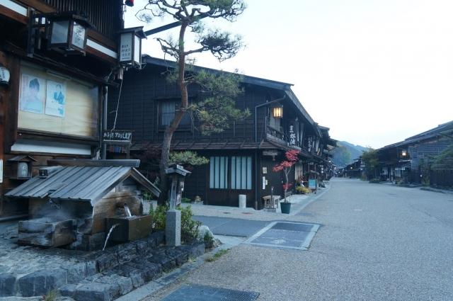 奈良井宿の各所に有る水場