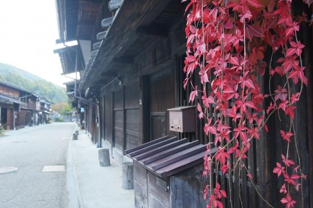 奈良井宿はすっかり秋の風情