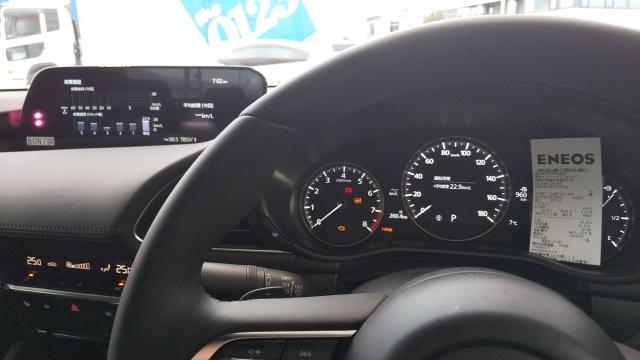 261kmを10.8Lのガソリンで走りました マツダ3スカイアクティブX
