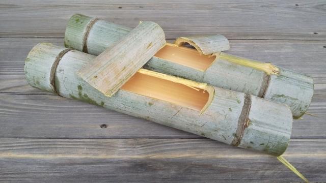 できた、竹飯盒
