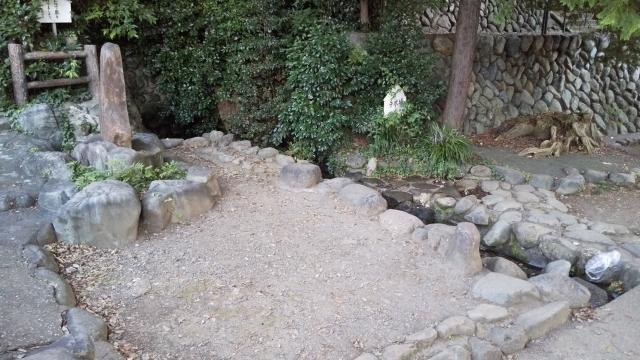 昭島 諏訪神社の湧き水