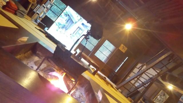 平湯民俗館の囲炉裏