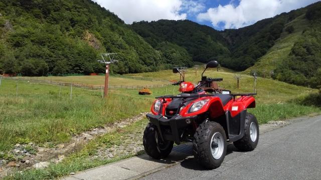 奥飛騨バギーで平湯スキー場の羊を見にいく
