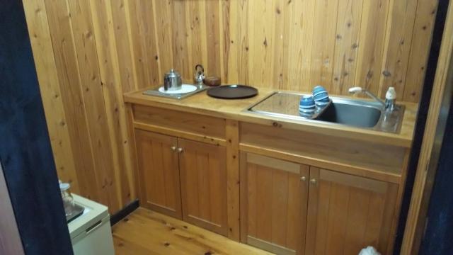 ひらゆの森 一番奥のコテージのキッチン