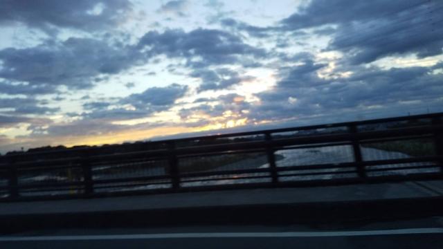 今日の朝の多摩川