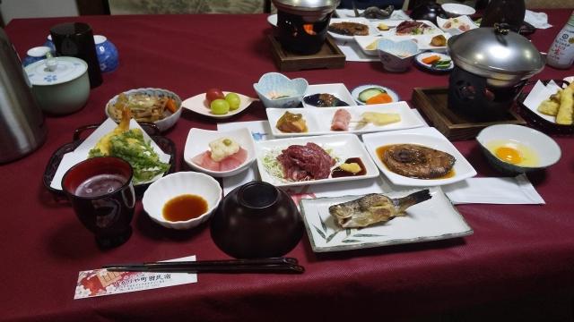 いかりや町田民宿の素晴らしい食事