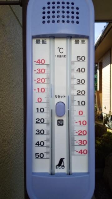 12月20日、最低気温は約マイナス5℃くらい