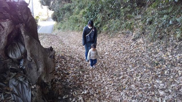 日野緑地の昔ながらの道を歩く