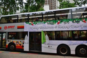 SMRT Bus Merry Christmas & Happy New Year