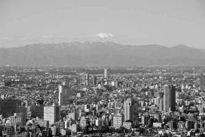 東京タワーから富士山