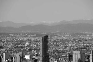 東京タワーから南アルプス