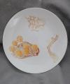 2020変形菌絵皿ホソエノヌカホコリ