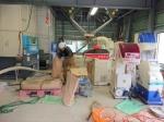 籾摺り作業