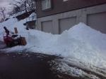 我家の屋根雪