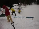 雪トヨとスノーダンプを使って
