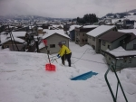 屋根の雪掘り