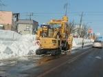 路肩の除雪作業