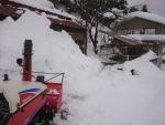 屋根からの落雪