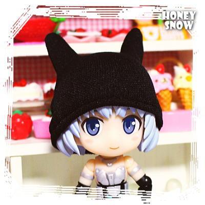 1/12DOLL 【ニャット帽】(ネコ耳帽子/ニット帽) 服 ねんどろいど、キューポッシュ、ねんどーる HoneySnow