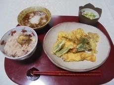 ブログ3栗ご飯と天ぷら