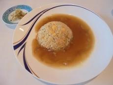 ブログ12フカヒレあんかけ炒飯