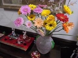 ブログ1ガーベラ&桜