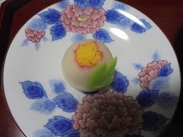 ブログ17牡丹上生菓子
