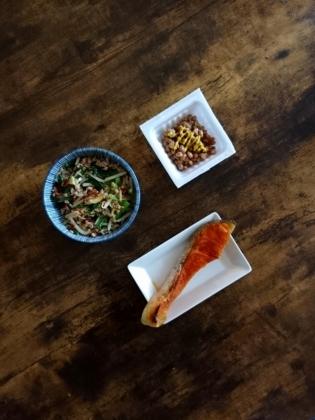 20200615①焼き鮭と納豆