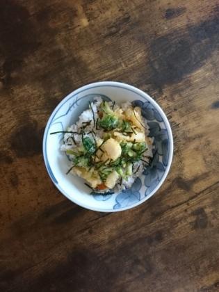 20200806野菜と海鮮mixのかき揚げ丼