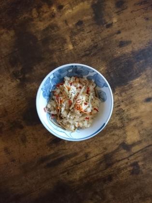 20201023焼鮭ときんぴら混ぜご飯風焼飯