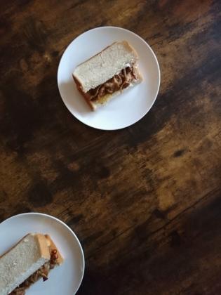 20201224生姜焼チーズサンドトースト
