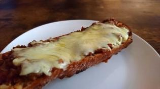 20201118デミグラスハンバーグチーズ超ガーリックフランス