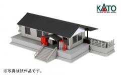 ローカル線の小形駅舎_斜