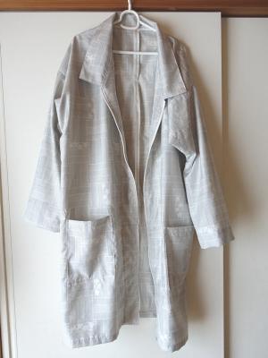着物リメイクで春用コート
