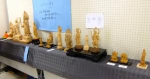 仏像を彫る会作品展